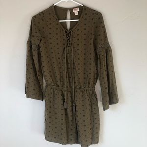 Mossimo Long-Sleeve Hunter Green Romper Size S